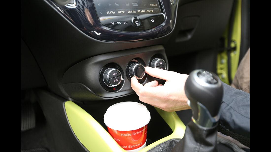 Opel Adam, Getränkehalter, Mittelkonsole