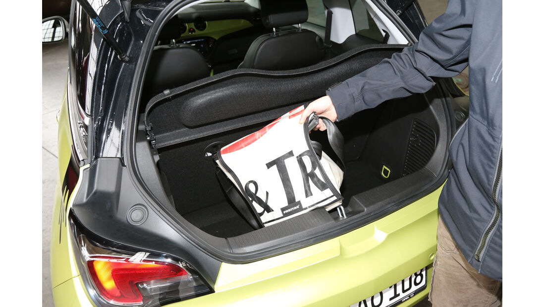 Opel Adam, Kofferraum