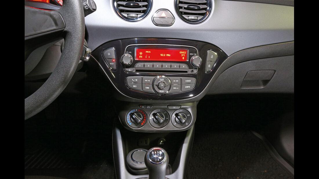 Opel Adam, Mittelkonsole, Klimaanlage