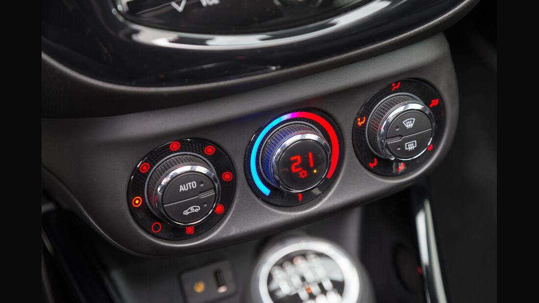 Opel Adam Rocks 1.0 DI Turbo, Bedienelemente, Klima