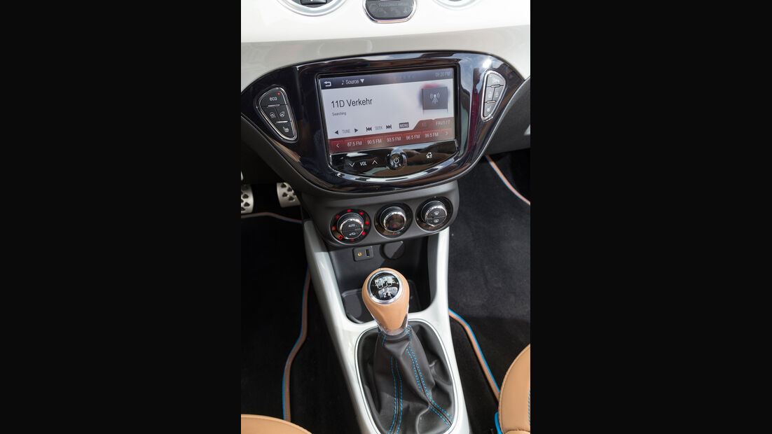 Opel Adam Rocks, Mittelkonsole
