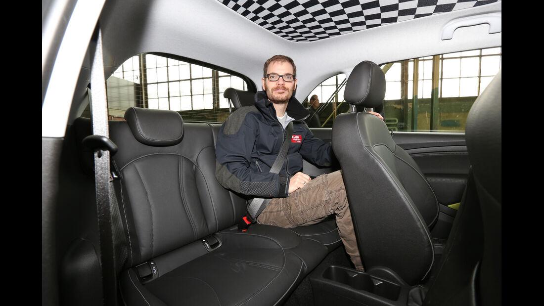 Opel Adam, Rücksitz, Beinfreiheit