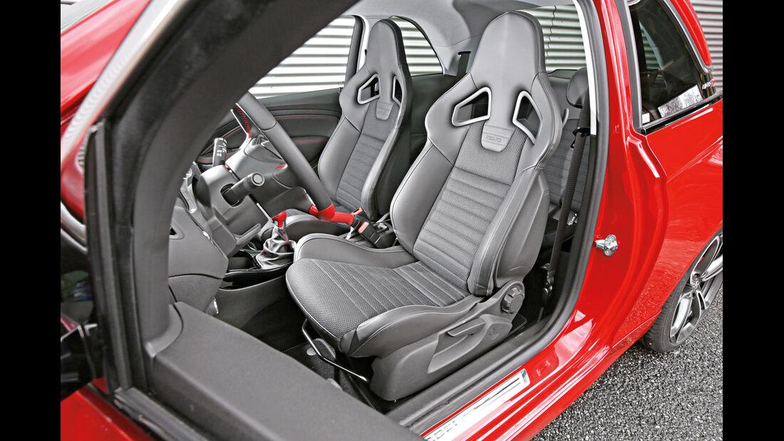 Opel Adam S, Fahrersitz