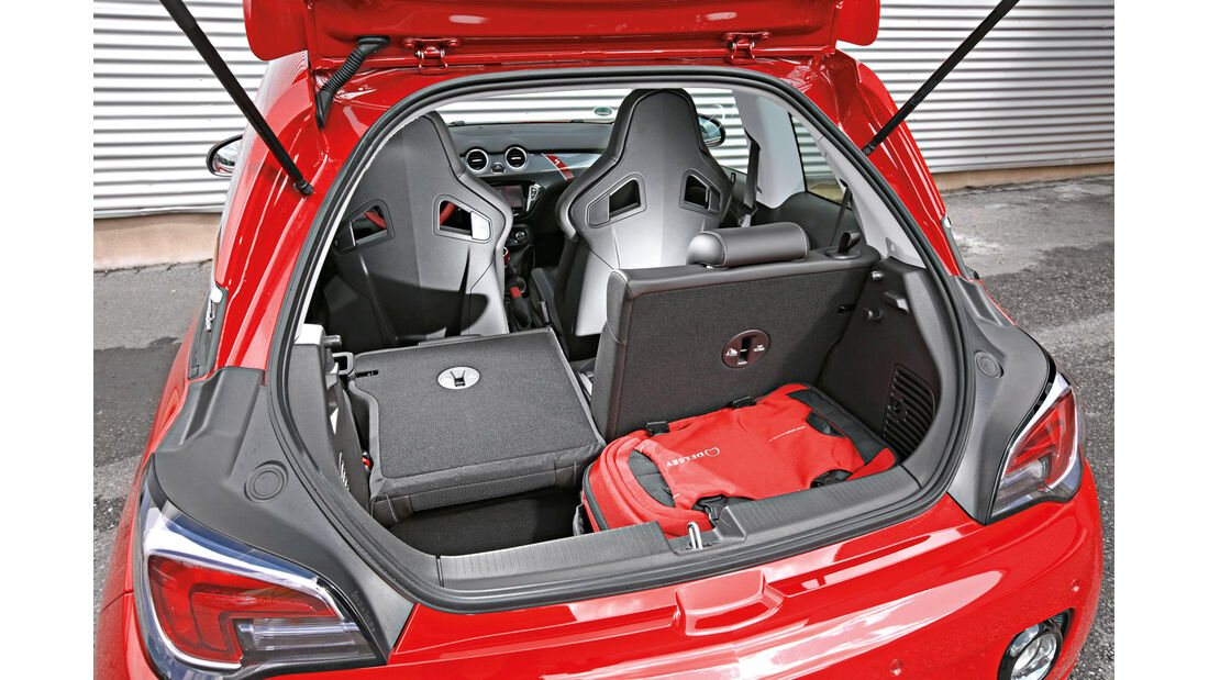 Opel Adam S, Kofferraum