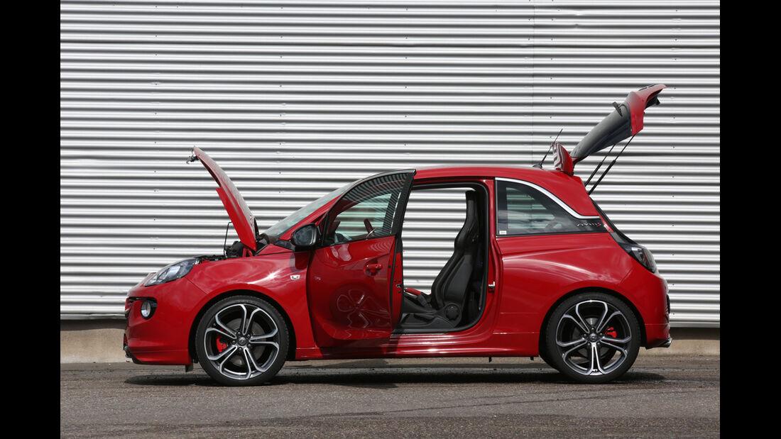 Opel Adam S, Seitenansicht, Türen offen