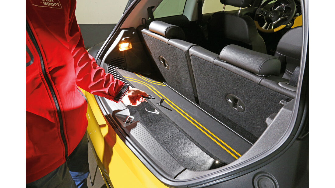 Opel Adam, Staubox, Kofferraum