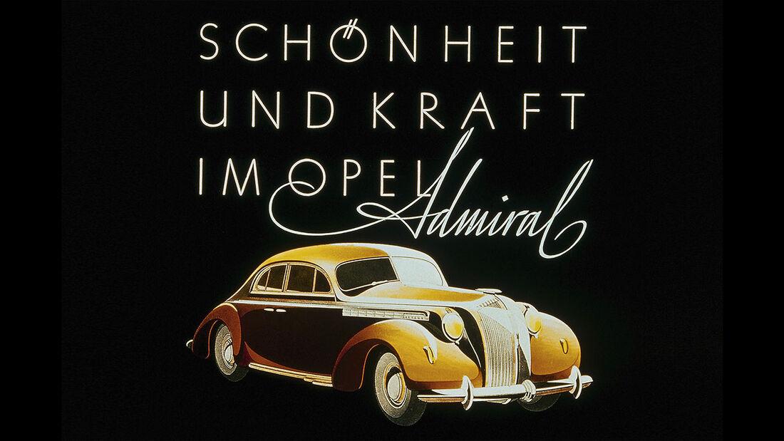 Opel Admiral, 1937, Werbeanzeige