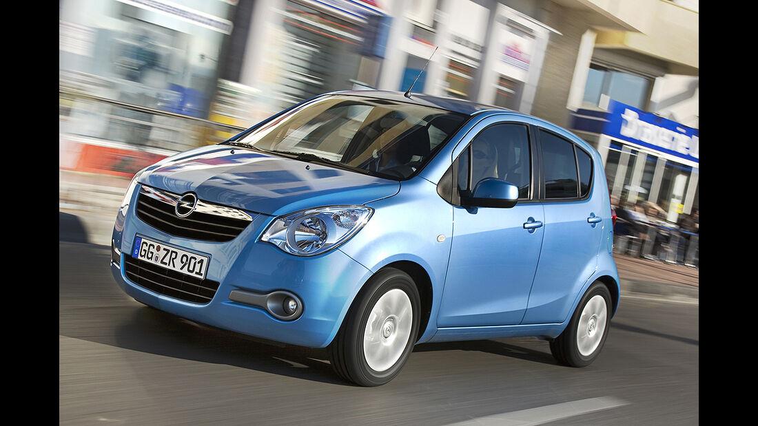 Opel Agila Front blau