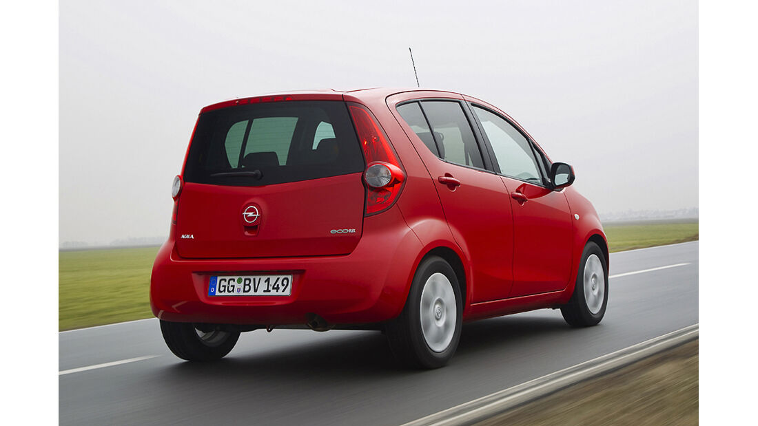Opel Agila LPG rot
