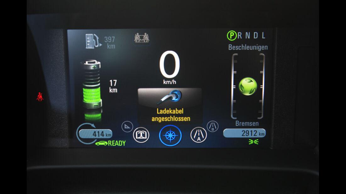 Opel Ampera, Bildschirm, Ladekabel