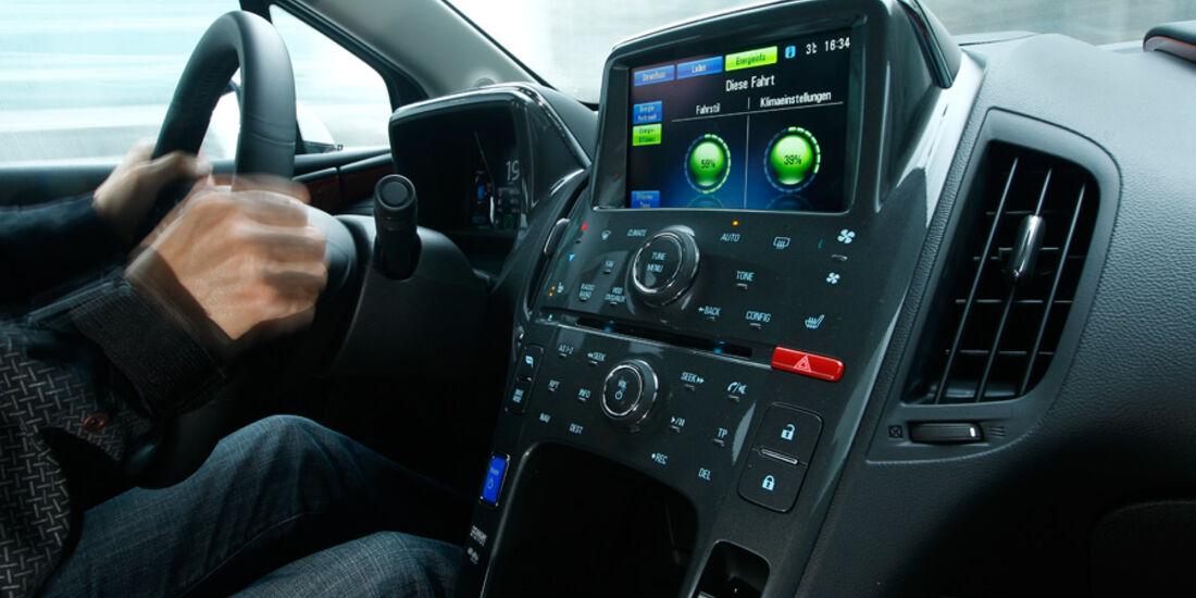 Opel Ampera, Cockpit, Mittelkonsole