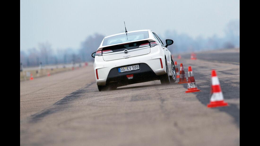 Opel Ampera, Heck, Slalom
