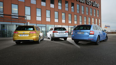 Opel Astr Sports Tourer 1.4 DI Turbo Innovation, Skoda Octavia Combi 1.5 TSI ACT Style, VW Golf Variant 1.5 TSI ACT Highline, Exterieur