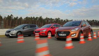 Opel Astra 1.0 DI Turbo, Hyundai i30 1.4, Nissan Pulsar 1.2 DIG-T