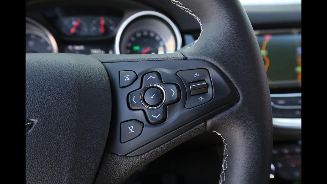 Opel Astra 1.0 Turbo, Bedienelemente