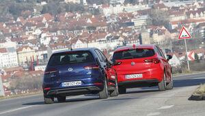 Opel Astra 1.4 CNG, VW Golf 1.4 TGI, Exterieur
