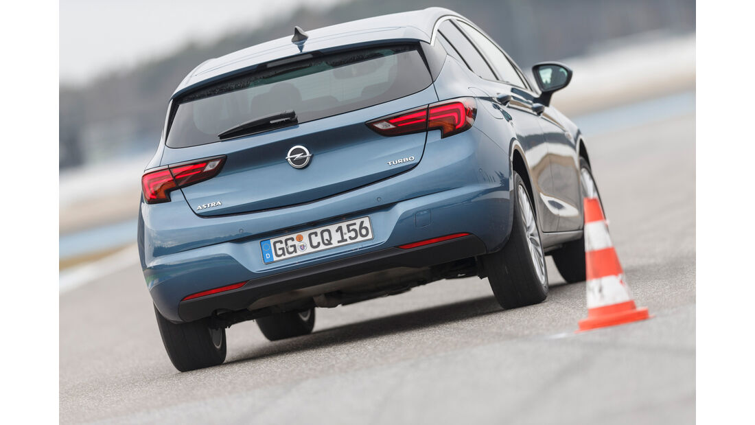 Opel Astra 1.4 DI Turbo, Heckansicht