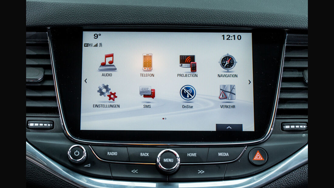 Opel Astra 1.4 DI Turbo, Infotainment