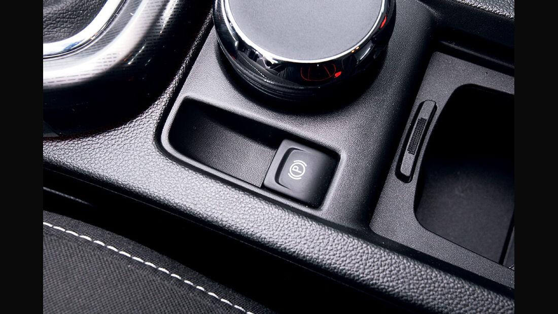 Opel Astra 1.4 Turbo, Mittelkonsole, elektronische Parkbremse