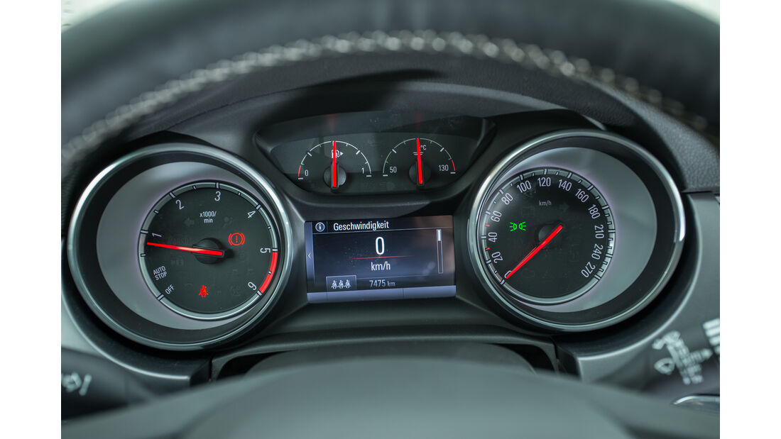 Opel Astra 1.6 CDTI, Rundinstrumente