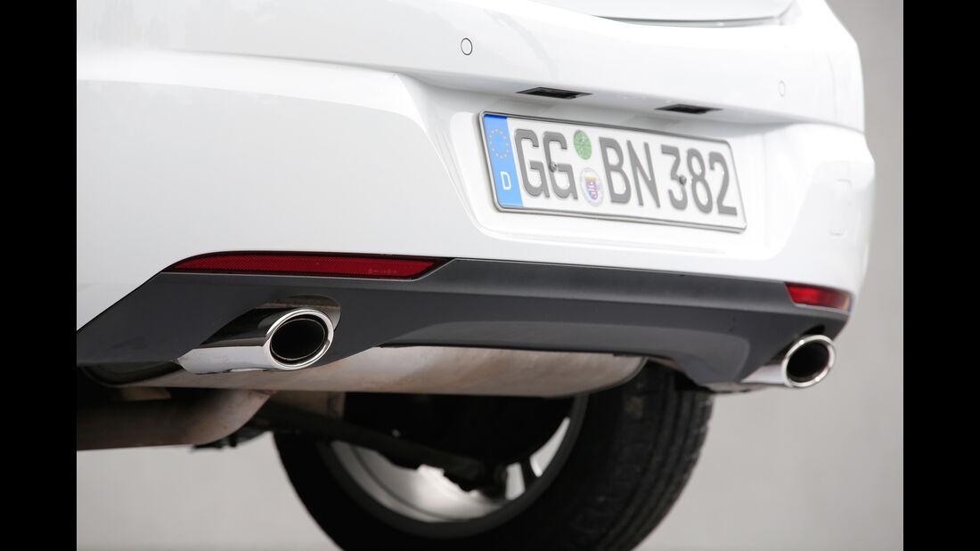 Opel Astra 1.6 DI Turbo, Endrohre