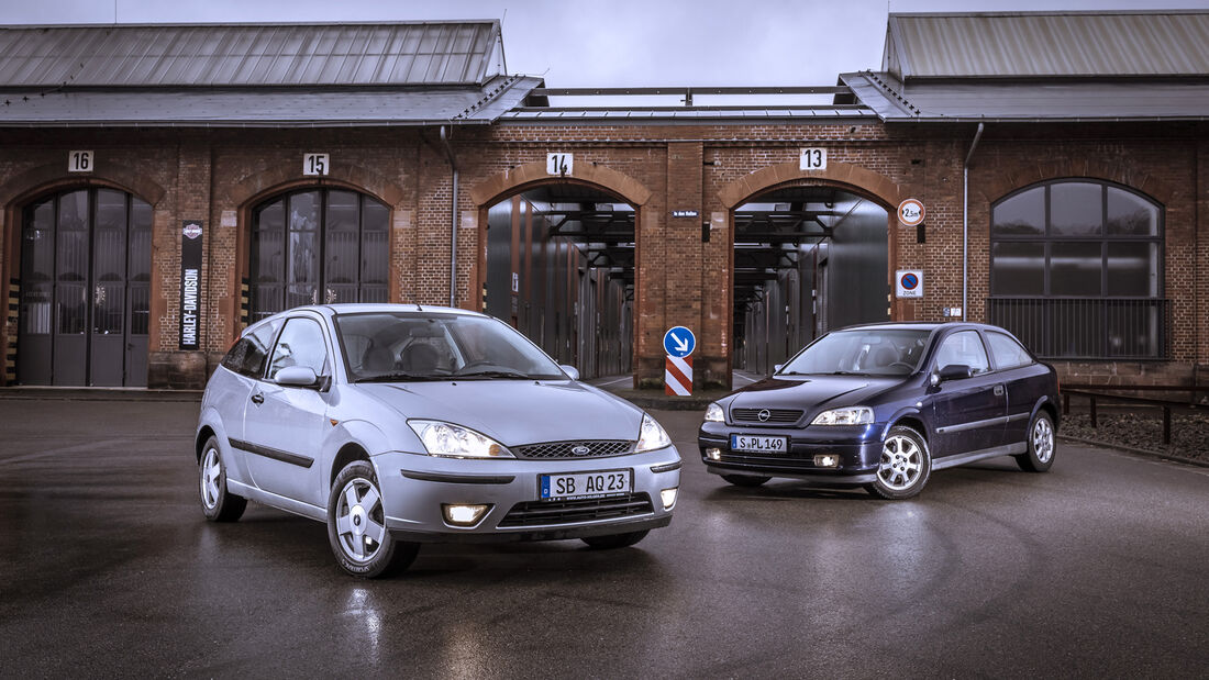 Opel Astra 1.6, Ford Focus 1.6 16V, Exterieur
