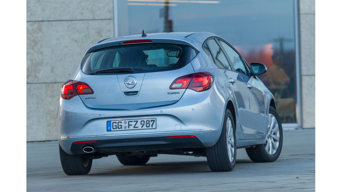 Opel Astra 1.6 Turbo Style, Heckansicht