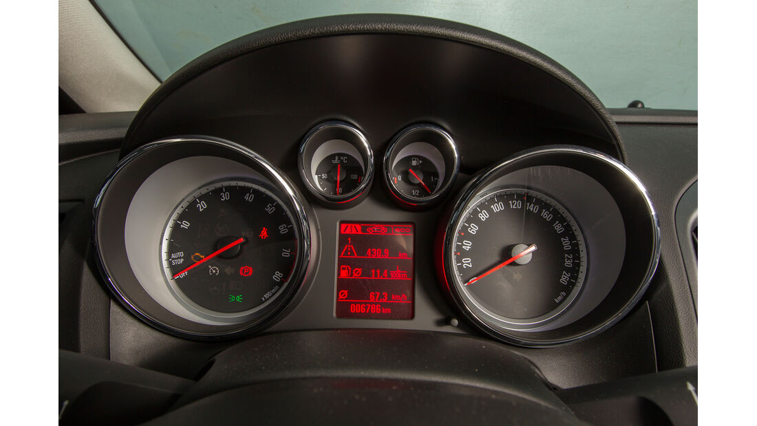 Opel Astra 1.6 Turbo Style, Rundinstrumente