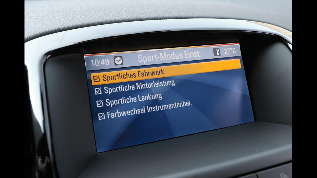 Opel Astra 2.0 CDTi Biturbo, Infotainment, Bildschirm
