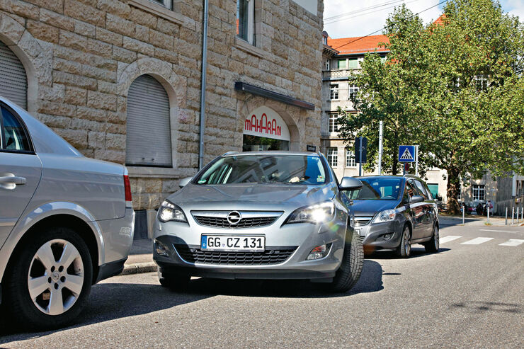Opel Astra 2.0 CDTi, Frontansicht, Einparken