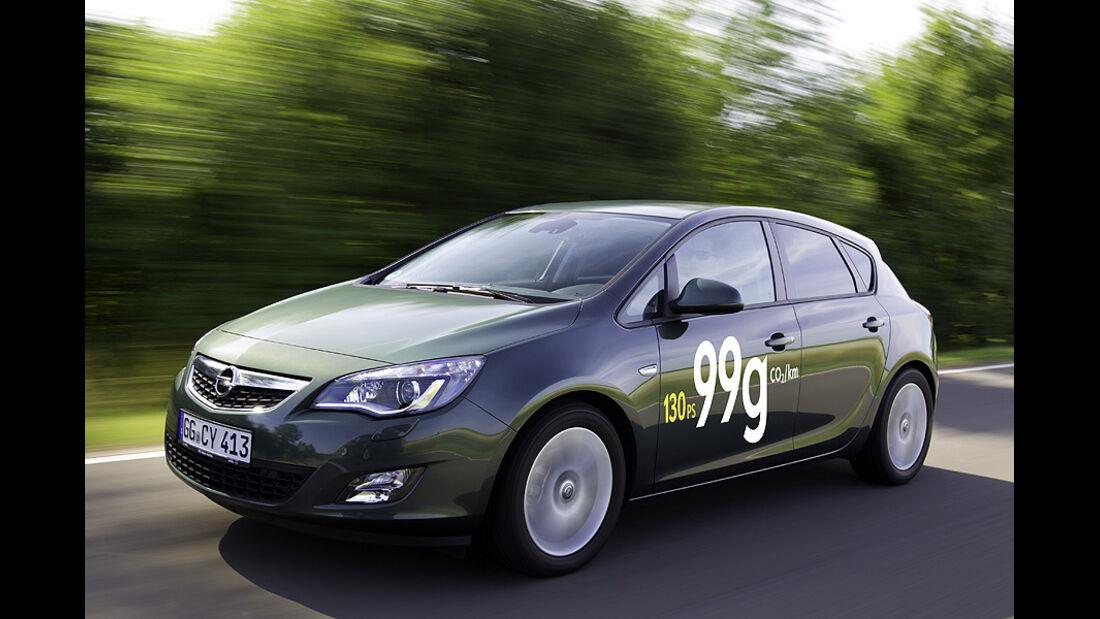 Opel Astra Ecoflex 99 g/km CO2