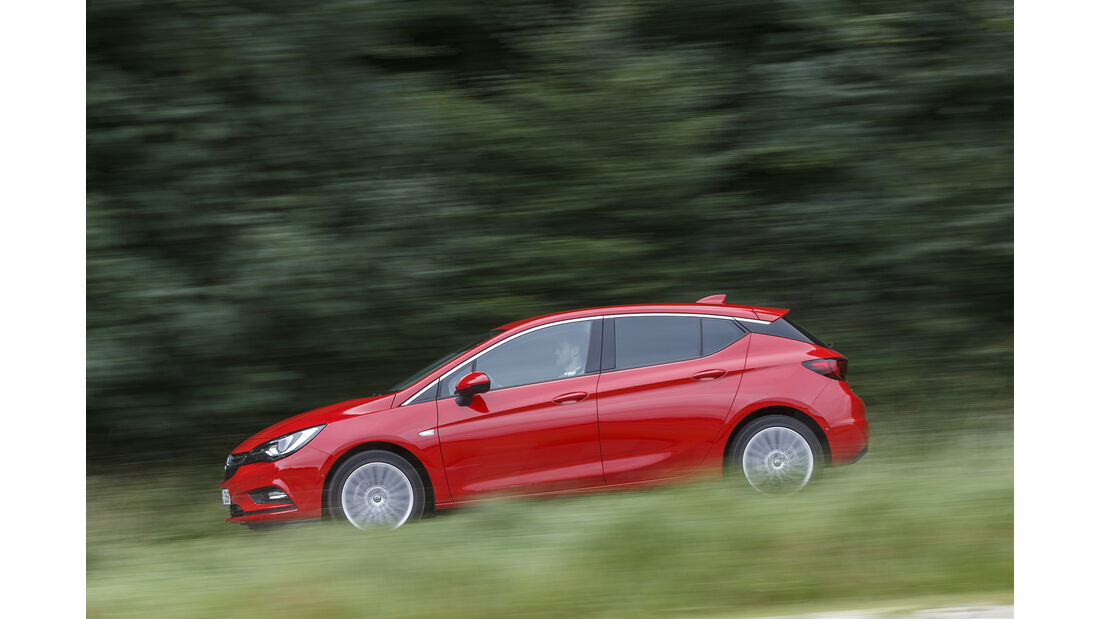 Opel Astra, Exterieur Seite