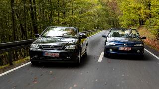 Opel Astra G Cabrio 1.6 16V, Peugeot 306 Cabrio 1.6, Exterieur