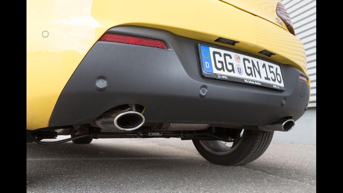 Opel Astra GTC 1.6 Turbo, Auspuff, Endrohr