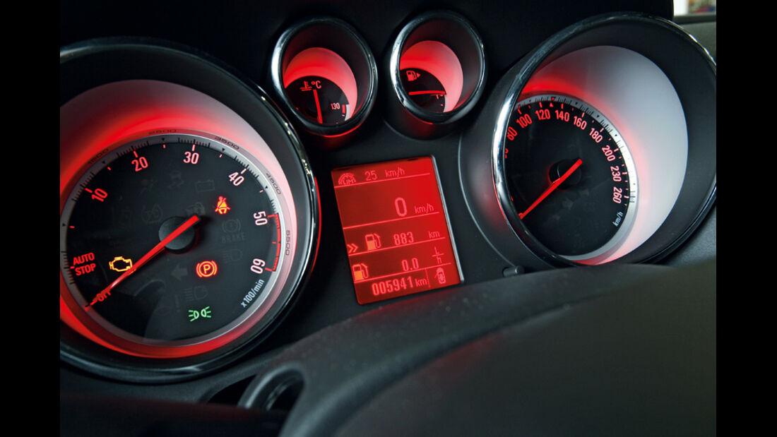 Opel Astra GTC 2.0 CDTi, Rundinstrumente