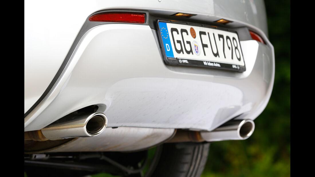 Opel Astra GTC Biturbo CDTI, Auspuff, Endrohr