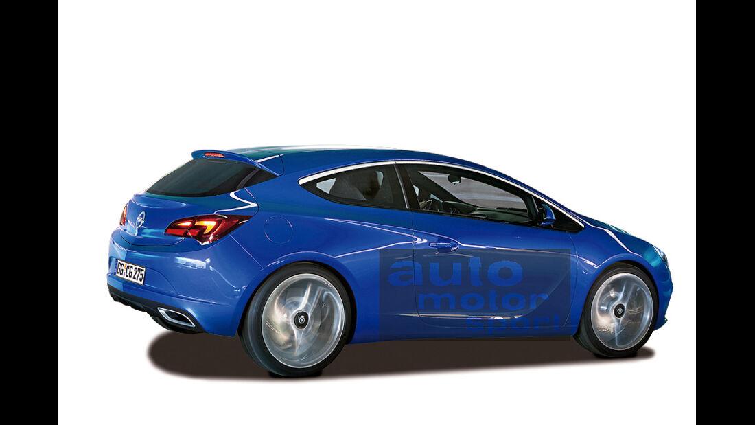 Opel Astra GTC, Retusche