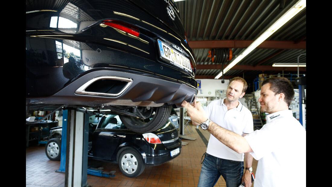 Opel Astra OPC, Auspuff