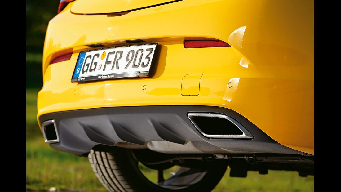 Opel Astra OPC, Auspuff, Endrohr