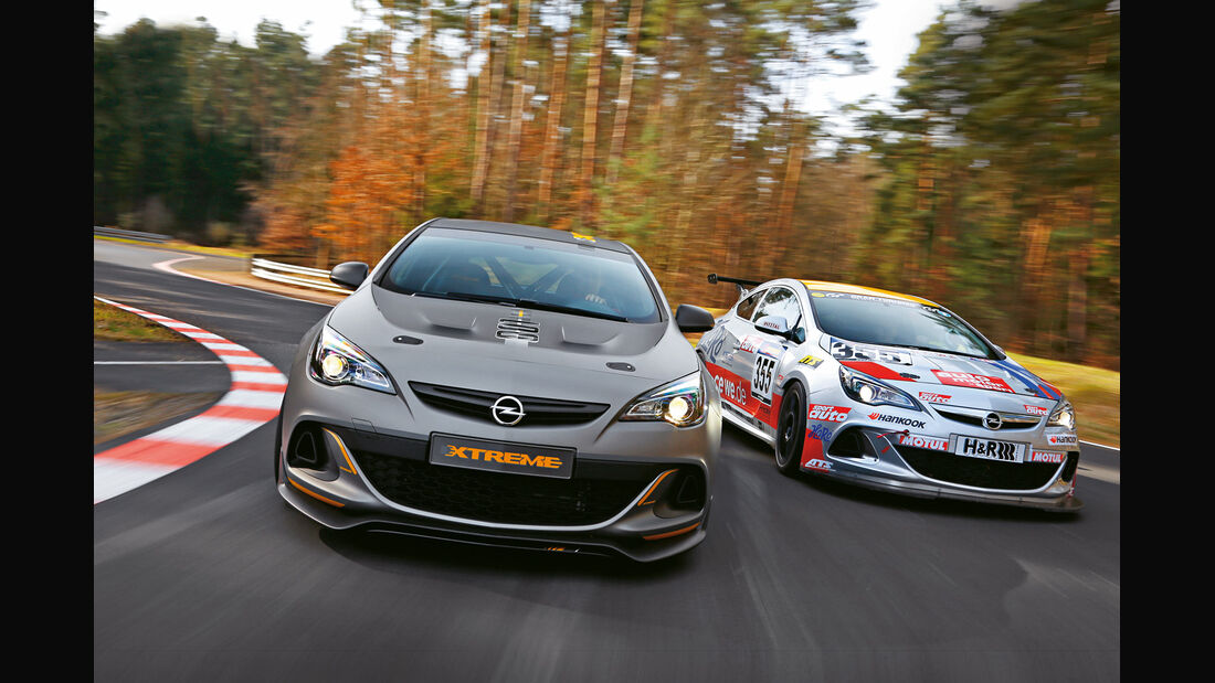 Opel Astra OPC Extreme, Opel Astra OPC Cup, Frontansicht