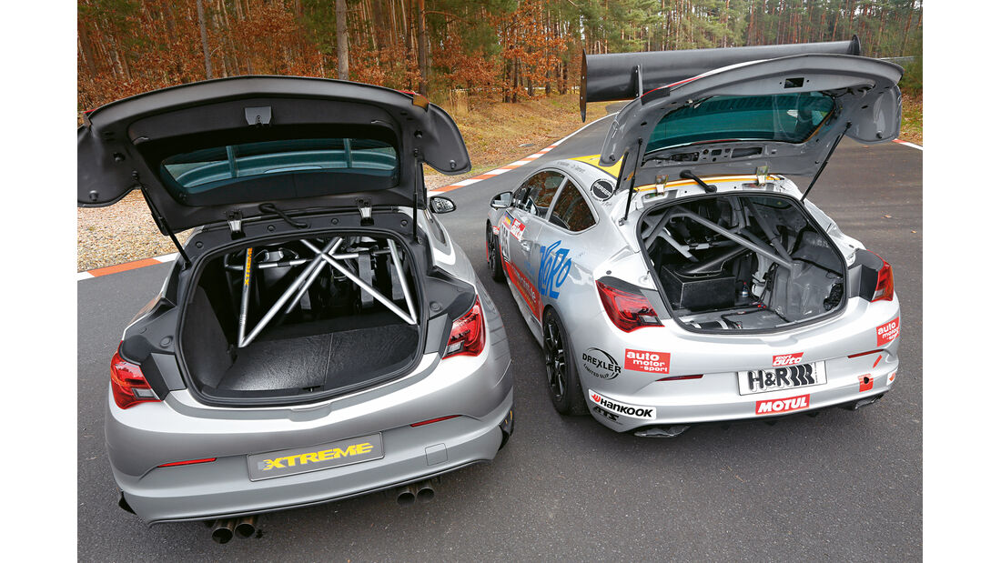 Opel Astra OPC Extreme, Opel Astra OPC Cup, Kofferraum