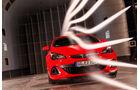Opel Astra OPC, Frontansicht, Windkanal