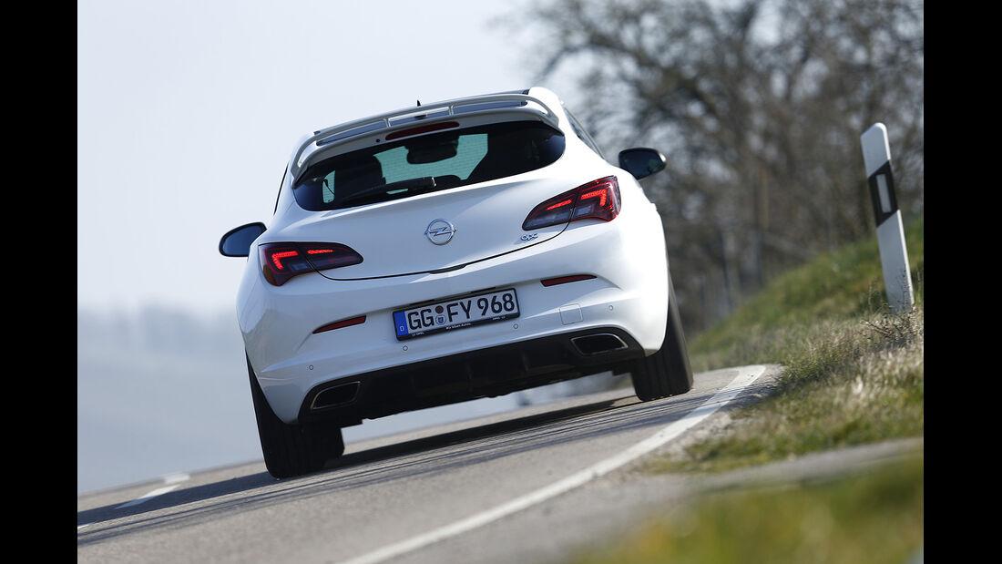Opel Astra OPC, Heckansicht, Vergleichstest, spa 05/2014