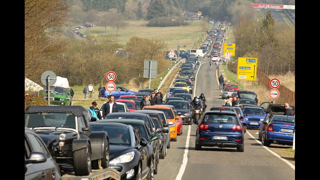 Opel Astra OPC, Nordschleife, Anfahrt