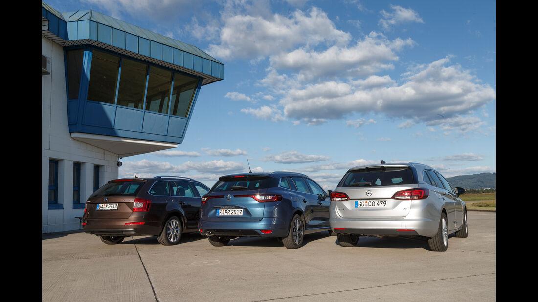 Opel Astra Sports Tourer 1.6 CDTI Ecoflex, Renault Mégane Grandtour dCi 130, Skoda Octavia Combi 2.0 TDI