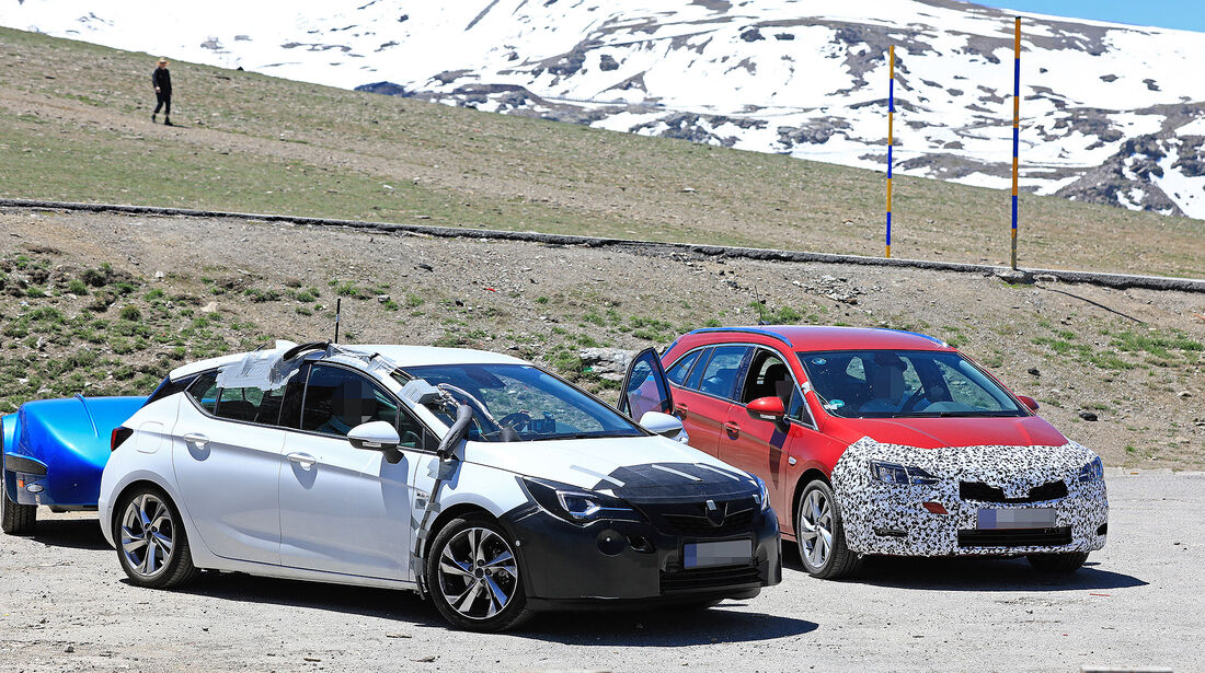 Opel Astra Sports Tourer Facelift Erlkönig