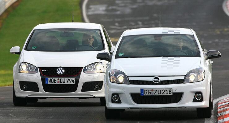 Opel Astra gegen VW Golf
