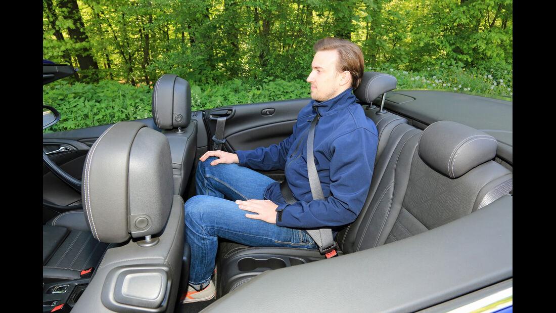 Opel Cascada 1.6 Sidi Turbo, Fondsitz, Beinfreiheit
