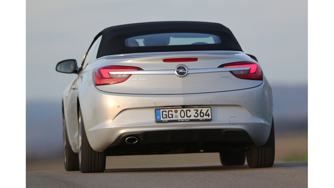 Opel Cascada 1.6 Turbo SIDI Turbo, Heckansicht