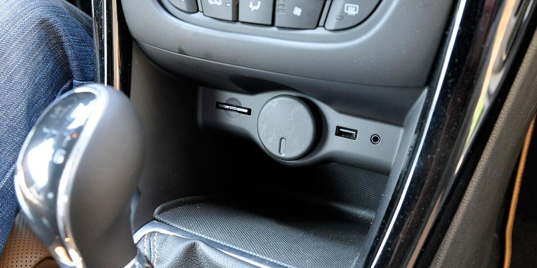 Opel Cascada, Ablage